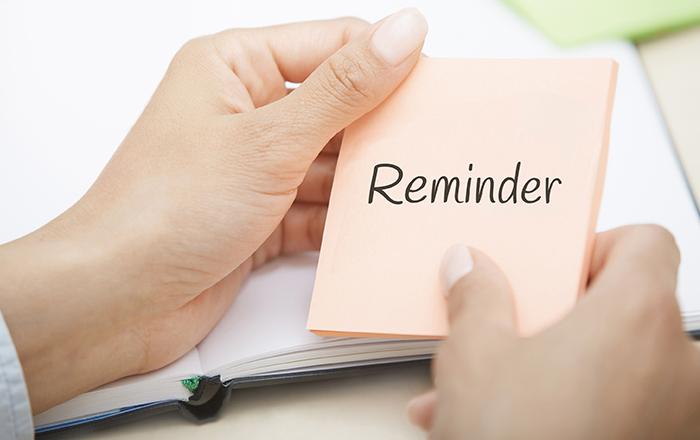 Reminder!